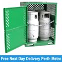 Picture of Gas Cylinder Storage cage for 4 x Type T Forklift Cylinders Perth