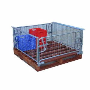 Picture of Pallet Cage Half with Timber Pallet