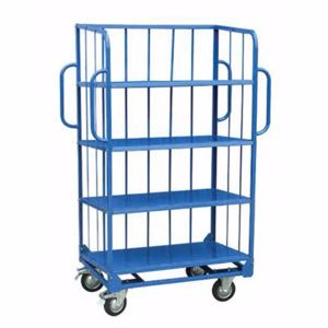 Picture of 3-Sided Sloping Shelf Truck Trolley Perth