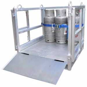 Picture of Cage for Transporting Gas Cylinders with Ramp (Assembled) Perth