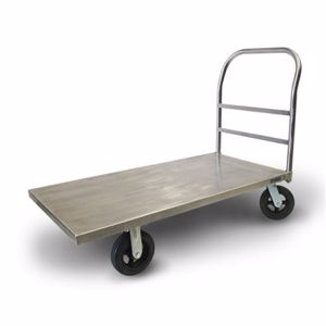 Picture of Stainless Steel Platform Trolley with Zinc Castors 610mm x 1220mm
