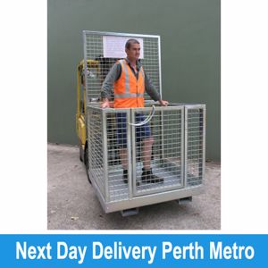 Picture of Forklift Safety Cage Assembled with Mesh Sides (Perth)