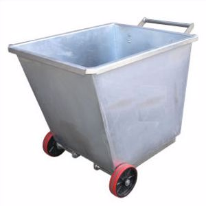 Picture of Light Weight Forklift Skip Bin 0.5m2 with Wheels (Perth)