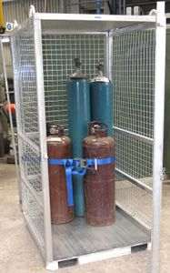 Picture of Gas Bottle Storage Cage (Assembled) Perth