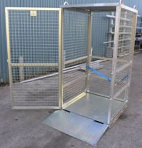 Picture of Gas Cylinder Storage Cage with Ramp (Flat Packed) Perth