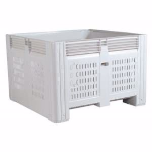 Picture of Plastic Pallet Bins Vented with lid option Perth