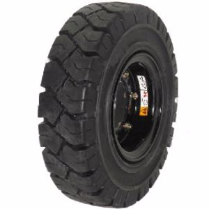 Picture of Forklift Rim and Solid Tyre 650 x 10